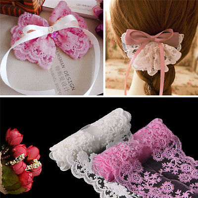 Vintage Embroidered Lace Edge Trim Ribbon Applique Crochet Sewing DIY Craft