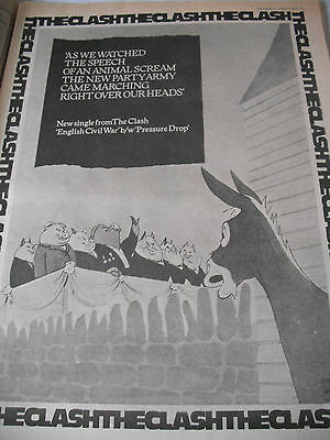 "The Clash 1979 Advert For ""the English Civil War"" Animal Farm Style A3"