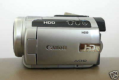 Canon HG10 40GB HDD AVCHD CAMCORDER 1080 VIDEO CAMERA (NTSC) - Used