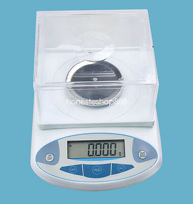 500 x 0.001 g 1mg LED  Lab Analytical Balance Digital Precision Scale+Backlight