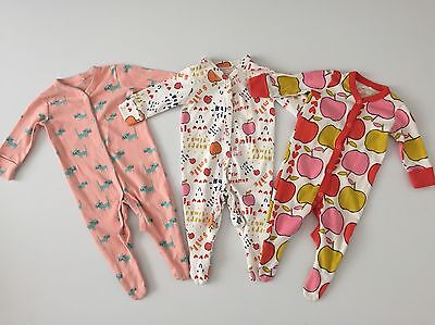 Next Babygrows Sleepsuits Size 3-6 Months Baby Girls