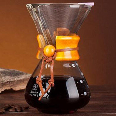 Clear Classic Pour Over Coffee Maker Style Glass 400mL / 3 Cups of Coffee