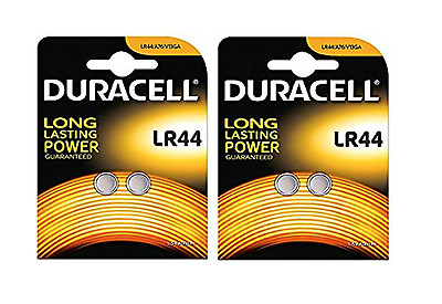 4 x Duracell LR44 Alkaline Button Cell Batteries Hexbug 1.5V LR 44 A76 AG13 357