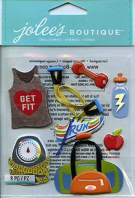 "Jolee's Boutique ""GET FIT"" Dimensional Scrapbooking Stickers - U23"