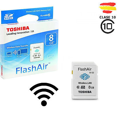 TARJETA MEMORIA 8GB TOSHIBA WIFI SD HC USB 8 GB ORIGINAL SDHC CAMARA FlashAir