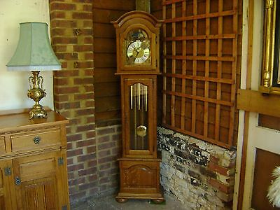 Oak grandfather clock longcase