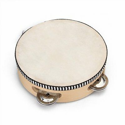 "6"" Musical Tambourine Tamborine Drum Round Percussion Gift for KTV Party CT N5F3"