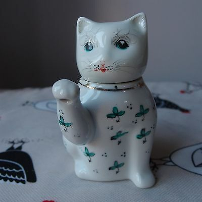 "Novelty Teapot Decorative Small Lucky Cat Made in China   - 4½"" Tall - Cute"