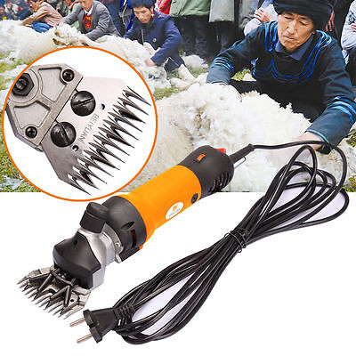 350W Electric Sheep Shearing Clipper Shear Goats Supplies Alpaca Farm Shears AU