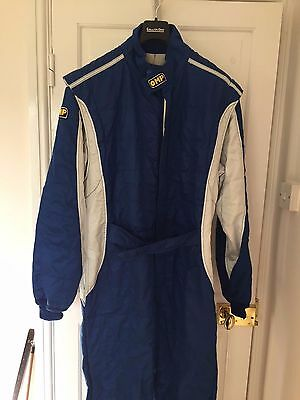 OMP 3 Layer Race/Rally Suit Blue Size 60