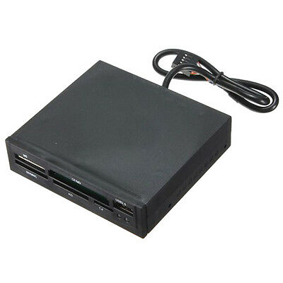 3.5 ''  internal USB 2.0 card reader reader 9-pin flasher memory sd ms cf C T8E0