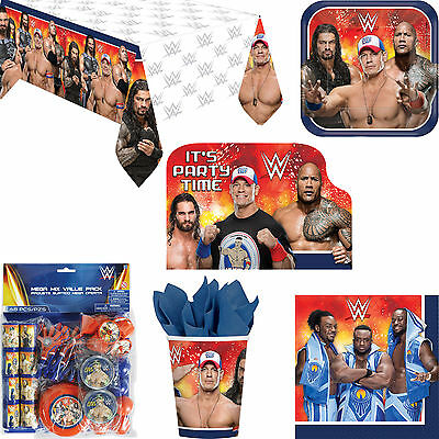 Wwe Wrestling Birthday Party Decorations Tableware Invitations