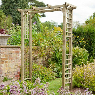 Garden Polperro Arch Archway Wooden Walkway Support Climbing Plants Rose Timber