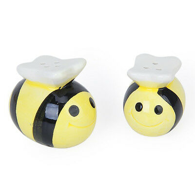 Ceramic Bee-Pattern Salt and Pepper Shakers Wedding Party Bag Fillers Gife T1N2