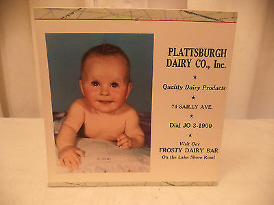 1960 Plattsburgh Dairy Co. Calendar Sailly Ave NY with recipes Drink Milk