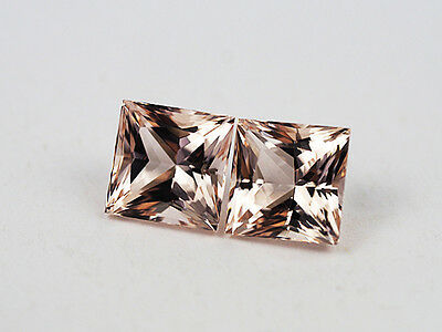 p2  MORGANIT PAAR  - MORGANITE PAIR  5,97CT