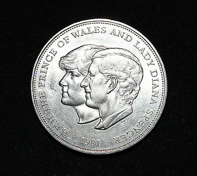 1981 Prince Charles and Lady Diana Spencer wedding commemorative silver coin