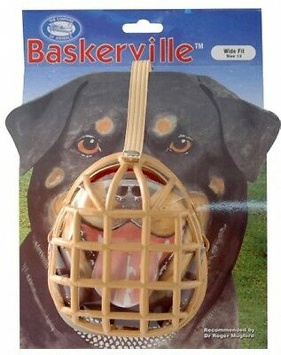 Baskerville Muzzle, Size 13, classic box-design muzzle is humane, comfortable