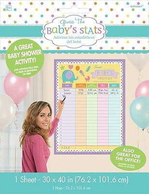 Guess the Baby's Statistics | Baby Shower Game | Activity | Weight | Date Poster