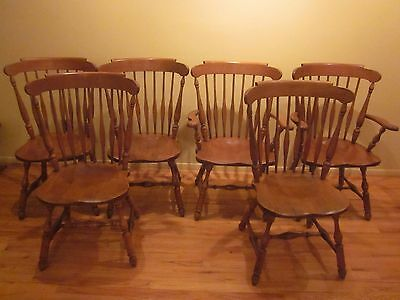 heywood wakefield dining table + 6 chairs 1960's vintage