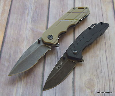 Kershaw 2 Pcs Pocket Knife Combo Pack Spring Assisted Knife With Pocket Clip