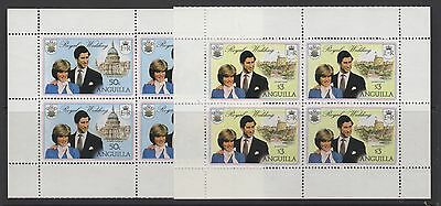ANGUILLA SG468ab/9ab 1981 ROYAL WEDDING BOOKLET STAMPS BLACK PRINTED TWICE MNH