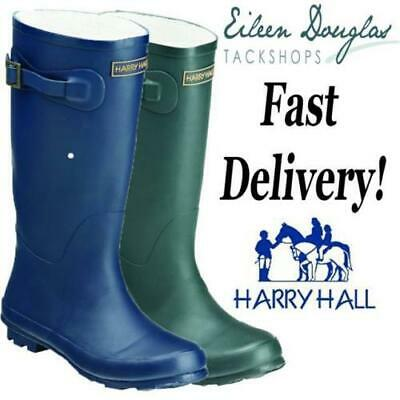 Harry Hall Ranger Wellies Wellys Wellington Boots Green or Navy All Sizes!