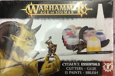 Free UK Shipping! Age Of Sigmar Essentials Paint/Starter Set - New And Sealed!