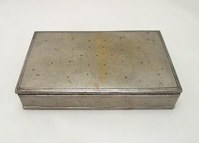 A Good Vintage Playing Card Case with Engraving to Surface & Floral Design