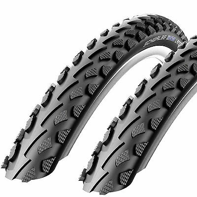 "2x SCHWALBE LAND CRUISER MOUNTAIN BIKE MTB CYCLE BIKE TYRES 26 X 2.0"" BLACK NEW"