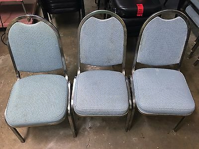 125 Stackable Chairs from Banquet Hall, Green and Blue