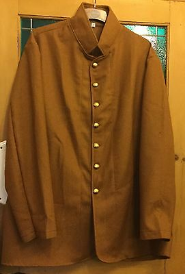 American civil war CSA 7 button sack coat butternut wool