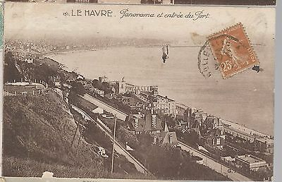 FRANCE POSTCARD: LE HAVRE PANORAMA ca. 1910