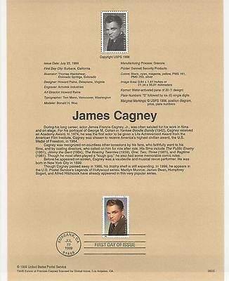 USA FDC USPS First Day Souvenir Pages: 1999: JAMES CAGNEY, ACTOR
