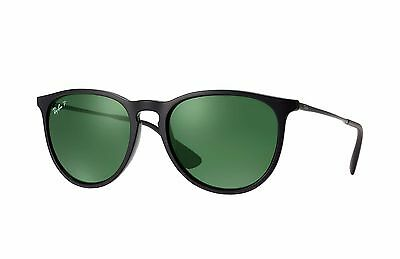Ray-Ban RB4171 Erika 601/2P Black Frame/Polarized Green Classic G-15 Lens 54mm