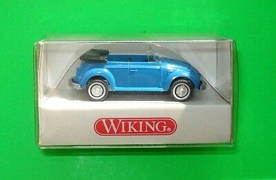 Wiking ### Vw Käfer Cabrio - Hellblau In Ovp ### 1:87=Top!!!