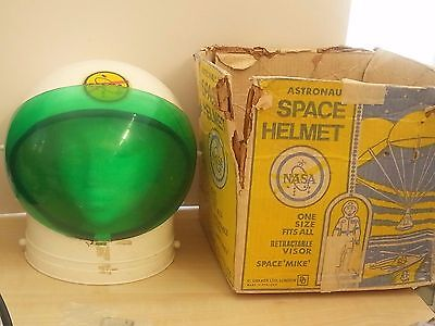Rare SPACE HELMET NASA VINTAGE CHILDS TOY BY DEKKER LONDON 19 With Box