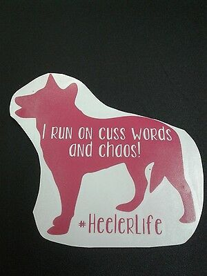 Blue heeler, red heeler, ACD vinyl decal FREE SHIPPING