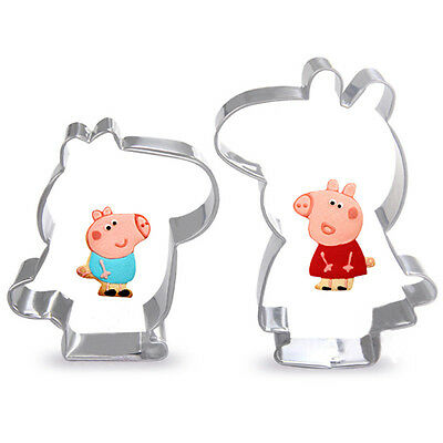 peppa pig and george 2pcs cookie cutter set biscuit  baking