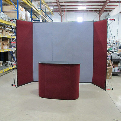 7ft Portable Exposure Trade Show Booth W/ Stand