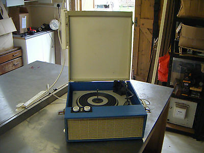Fidelity blue & cream valve amplifier vintage record player in working order