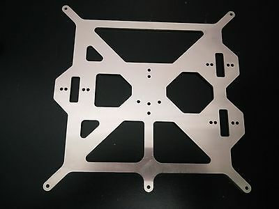 Prusa i3 Upgrade 3mm Aluminium Y Axis Heated Bed Support Plate