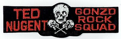 Ted Nugent 2x7 Gonzo Rock Squad 80's Vintage Embroidered Iron On Patch