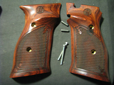 Smith & Wesson Model 41/46 Rosewood Checkered Target Pistol Grips w/S&W LOGO NEW