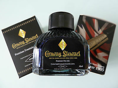 Conway Stewart 80ml bottle Ink - New (Tamar - Royal Blue)