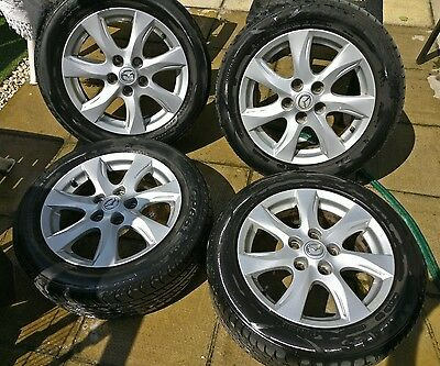 "Mazda 3 Genuine 5 Stud 16"" Alloy Wheels and Tyres"