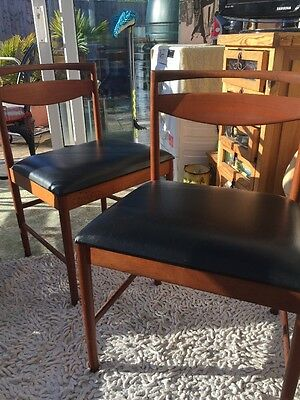 Set Of Retro Vintage Circa 60/70s G Plan Danish Style Dining Chairs X 4