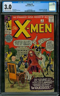 X-Men 2 CGC 3.0 - 2nd X-Men - 1st Vanisher