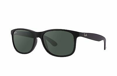 Ray-Ban RB4202 Andy Sunglasses 606971 Black Frame/Green Classic Lens 55mm