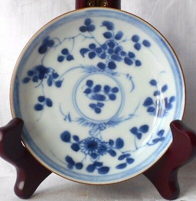 C18Th Chinese Ca Mau Shipwreck Cargo Blue And White Batavan Dish With Flowersd